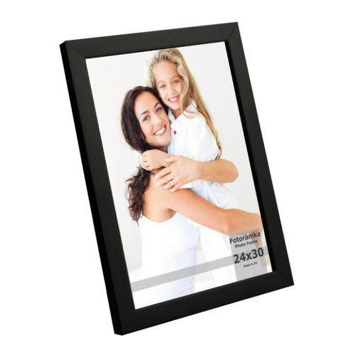 Ramki na zdjęcia, Ramka na zdjęcia 24 x 30 cm czarny lakier