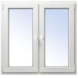 Okno PCV rozwierne + rozwierno-uchylne 1165 x 1135 mm symetryczne