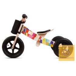 Darmowa dostawa kurierem od 300 zł! Rowerek biegowy drewniany 2w1 Twist Mosaic Black Edition STREFADZIECIAKOW.PL