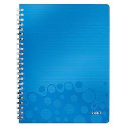 """Kołonotatnik z folderem """"Get organised"""" Leitz WOW, A4 80k niebieski 46430036"""