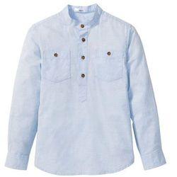 Koszula z wywijanymi rękawami bonprix jasnoniebieski melanż