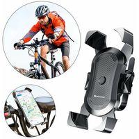 Pozostałe akcesoria rowerowe, Wozinsky rowerowy motocyklowy uchwyt na telefon na kierownicę czarny (WBHBK2)