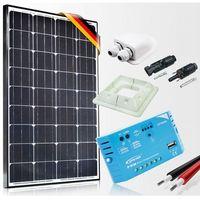 Baterie słoneczne, Zestaw zasilania solarnego do Kampera - Moc 100W Prestige