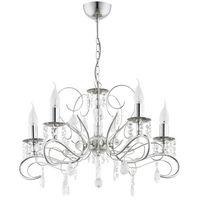 Lampy sufitowe, Lampa wisząca Alfa Astor 21585.00 zwis 5x40W E14 chrom >>> RABATUJEMY do 20% KAŻDE zamówienie!!!