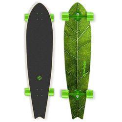 """Deskorolka Longboard Street Surfing Fishtail - The Leaf 42"""", Zielony truck"""