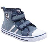 Buty sportowe dla dzieci, Trampki jasnodżinsowe na rzepy za kostkę 25