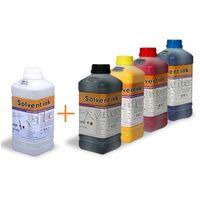 Tusze do drukarek, START SET - ECO SOLVENT (CMYK + Płyn do Płukania GŁOWIC)