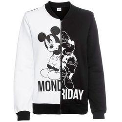 """Bluza rozpinana college """"Myszka Miki"""" bonprix czarno-biały"""