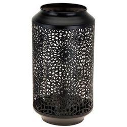Ażurowa latarenka, lampion w kolorze czarnym