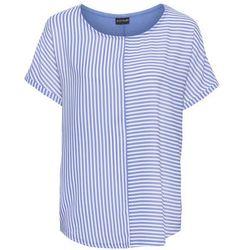 Shirt w paski bonprix jasnoniebiesko-biały w paski