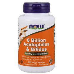 Now Foods Probiotyk Acidophilus i Bifidus 8 miliardów 120 kapsułek - 120 kapsułek