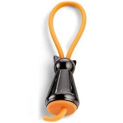 Brelok czarny kot i pomarańczowa zawieszka Flick Philippi (P273042)