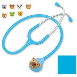 Stetoskop pediatryczny Spirit Deluxe F606PF z nakładkami - błękitny