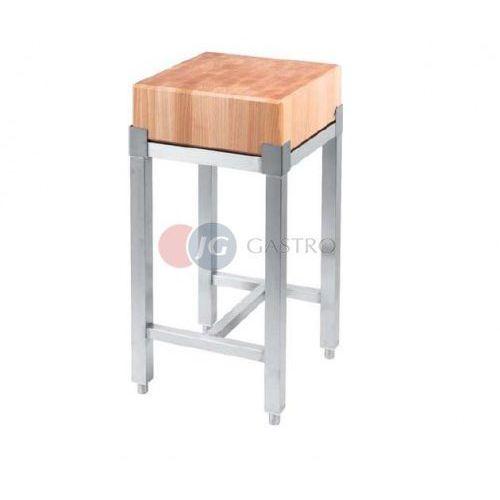 Pozostała gastronomia, Kloc masarski 400x400 drewniany na podstawie ze stali nierdzewnej 684416