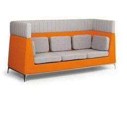 Fotel, 3 miejscowy, szary/pomarańczowy