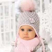 Zestawy dodatków dla dzieci, Komplet AJS 38-403 Czapka+szalik ROZMIAR: uniwersalny, KOLOR: wielokolorowy, AJS