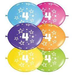 Girlanda balonowa z nadrukiem cyfra 4 - 300 cm - 1 kpl - 10 szt. balonów