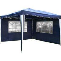 Namioty ogrodowe, EKSPRESOWY PAWILON OGRODOWY NAMIOT 3x3m 2 SCIANY - Niebieski