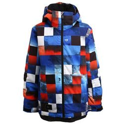 Quiksilver MISSION Kurtka snowboardowa blue red icey check