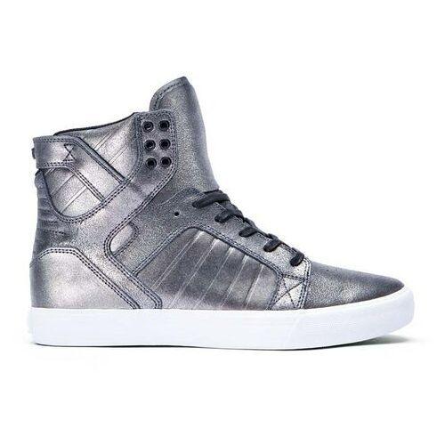 Męskie obuwie sportowe, buty SUPRA - Skytop Pewter Metalic-White (PEW) rozmiar: 38