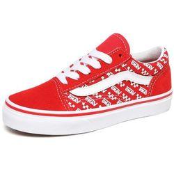 Vans tenisówki dziecięce Old Skool (LOGO REPEAT) 33 czerwone