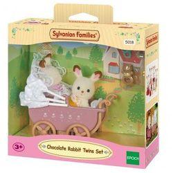 Sylvanian Families Zestaw z bliźniakami królików z czekoladowymi uszkami (wózek dziecięcy)