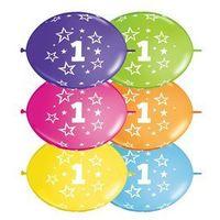 Balony, Girlanda balonowa z nadrukiem cyfra 1 - 300 cm - 1 kpl - 10 szt. balonów