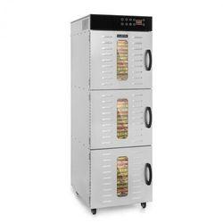 Klarstein Master Jerky 550, suszarka do żywności, 2400 W, 40 - 90 ° C, 24 godz. czasomierz, stal nierdzewna, srebrna