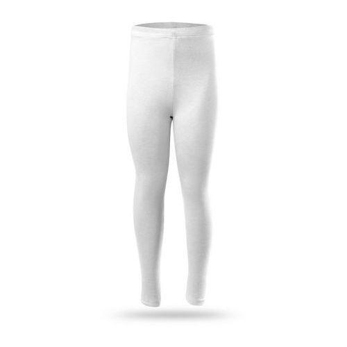 Legginsy, Legginsy RENNWEAR - długie białe - biały