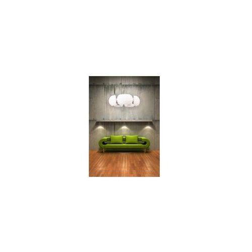 Lampy sufitowe, Azzardo Rondo AZ0115 DH 6081-5 Lampa wisząca zwis oprawa 5X40W E14 biała/chrom