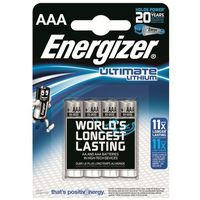 Baterie, 4 x bateria foto litowa Energizer L92 Ultimate Lithium R03 AAA