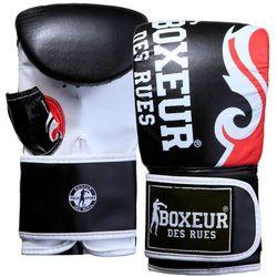 Rękawice bokserskie BOXEUR BXT-5139 (rozmiar S) Czarno-czerwony