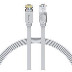 Baseus płaski kabel przewód internetowy sieciowy Ethernet patchcord RJ45 Cat 6 1000Mbps 5 m szary (PCWL-D0G) - 5 \ Szary