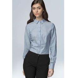 Błękitna Klasyczna Bawełniana Koszula