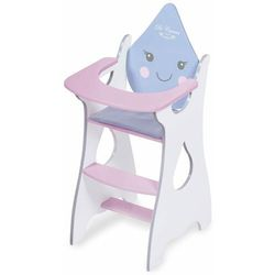 DeCuevas 55429 Drewniane krzesełko do karmienia dla lalki Martin
