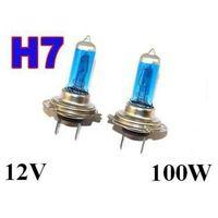 Żarówki ksenonowe samochodowe, Żarówki (2szt.) Samochodowe H7 (12V) Xenon H.I.D. Blue Vision (moc 100W) - Homologowane.