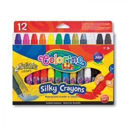 Wykręcane kredki żelowe w sztyfcie 12 kolorów