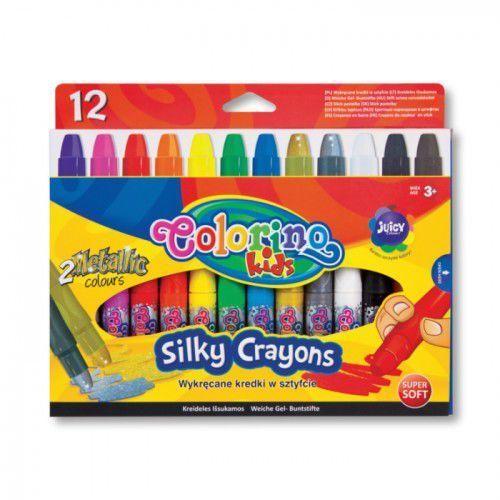 Kredki, Wykręcane kredki żelowe w sztyfcie 12 kolorów