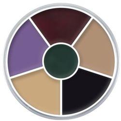 Kryolan CREAM COLOR CIRCLE (BLACK EYE) Kółko 6 kolorów farb Supracolor - BLACK EYE (1306)