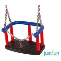 Huśtawki ogrodowe dla dzieci, Huśtawka kubełkowa LUX z łańcuszkiem + komplet łańcuchów ze stali nierdzewnej 5mm - 1,8m