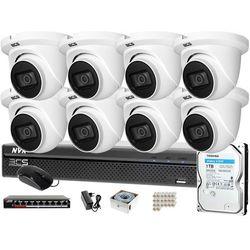Monitoring zestaw do samodzielnego montażu 8 Kamer BCS-DMIP1501IR-E-V 1TB Rejestrator BCS-NVR1601X5ME-II System IP