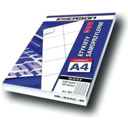 Etykiety 105 X 74,0 mm, 8 szt/A4 EMERSON uniwersalne (G) - X06641