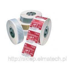 Rolka z etykietami, folia poliestrowa srebrna, 30x120mm, 1000szt
