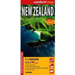 Nowa Zelandia (New Zealand) comfort! map laminowana mapa samochodowo-turystyczna 1:1 000 000