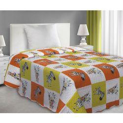 Narzuta dekoracyjna dla dzieci i młodzieży 170x210 Eurofirany ZOO żółty/ pomarańcz