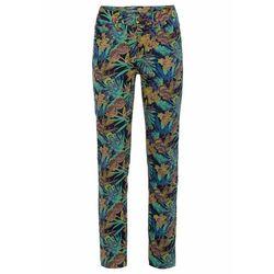 Spodnie dresowe bonprix naturalny melanż - zieleń morska melanż
