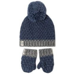 Zestaw Czapka i Rękawiczki UGG - K Infant Knit Hat And Mitt Set 18802 Ensign Blue