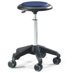 Mobilny stołek warsztatowy DIEGO, 440-570 mm, niebieska tkanina