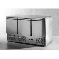 Stół chłodniczy 3-drzwiowy z blatem roboczym 1365x700x880 mm | HENDI, 232026