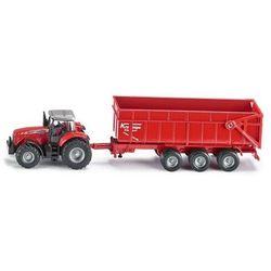 SIKU model traktora Massey Ferguson z przyczepą 1:87
